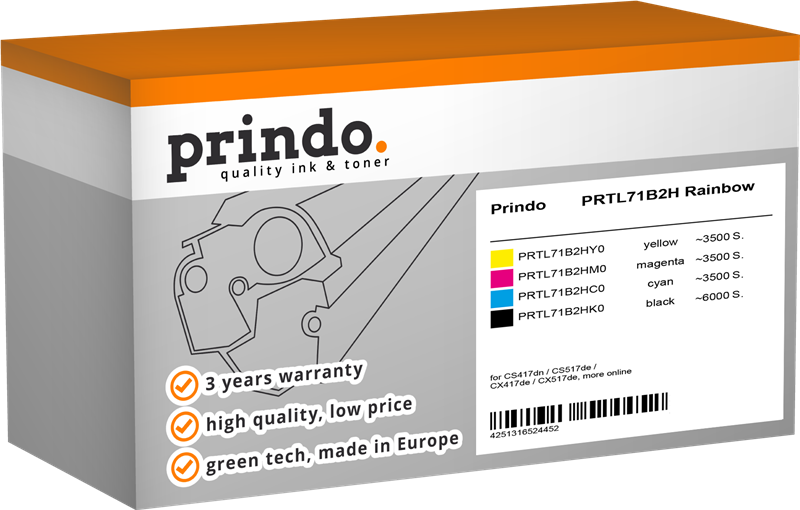 Value Pack Prindo PRTL71B2H Rainbow