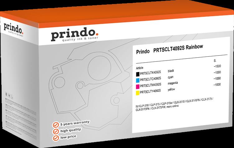 Value Pack Prindo PRTSCLT4092S Rainbow