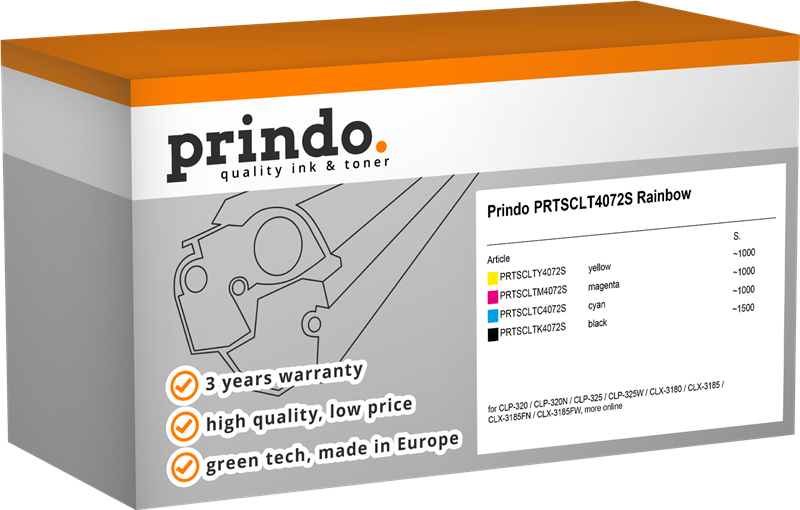 value pack Prindo PRTSCLTP4072C Rainbow