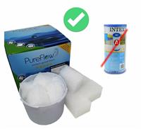 PureFlow Ersatzcubes für INTEX Kartuschen (35CubIN)
