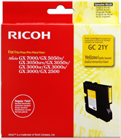 Cartouche de Gel Ricoh 405543 / GC-21Y