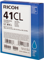 Ricoh Cartouche de Gel GC41CL Cyan