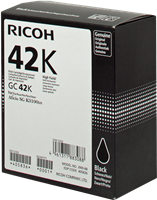 Cartucho de gel Ricoh GC 42 bk
