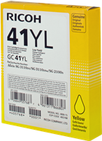 Cartucho de gel Ricoh GC41YL