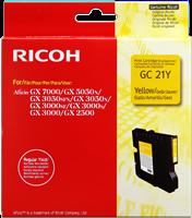 Ricoh gel cartridge 405543 / GC-21Y geel