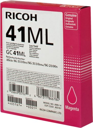 Ricoh 405767 GC 41 ml