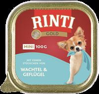 Rinti Gold Mini - 100 g - Wachtel & Geflügel (1000045668)