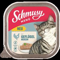 Schmusy Menü - 100 g - mit Geflügelherzen (71002)