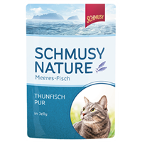 Schmusy Fisch - Feine Katzenkost - im Pouchbeutel - 100 g