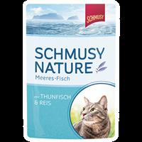Schmusy Fisch - Feine Katzenkost - im Pouchbeutel - 100 g - Thunfisch & Reis (71013)