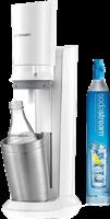 Sodastream Distributeur d'eau Soda Crystal Premium Blanc