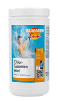 Summer Fun Desinfektion Chlor-Tablette Mini 1,2 kg, Achtung: Biozidprodukt, Gefahrenhinweise beachten! (0504002SF)