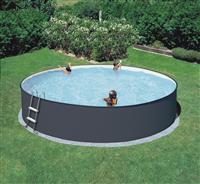 Summer Fun Rundform Beckenset grau mit sandfarbener Folie 450x120cm (M97019VS)