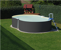Summer Fun Achtform Beckenset grau mit sandf. Folie 540x350x120cm (M97034VS)