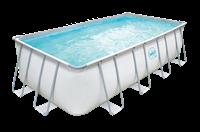 Swing Pools Premium Metallrahmen-Pool hellgrau 549 x 274 x 132 cm - Framepool (3000158)