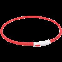 TRIXIE Flash Leuchtring USB Silikon - rot (12643)