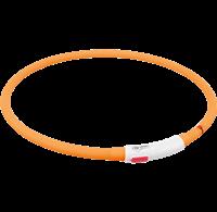 TRIXIE Flash Leuchtring USB Silikon - orange (12646)