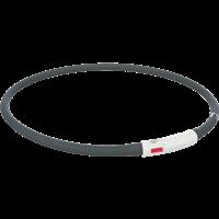 TRIXIE Flash Leuchtring USB Silikon - schwarz (12649)