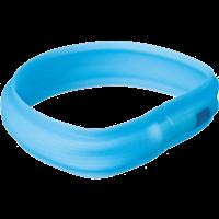 Trixie Safer Life USB Flash Leuchtband - 30 mm breit, blau