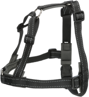 TRIXIE Trainingsgeschirr Lead'n'Walk Soft schwarz - S/M: 45-70 cm / 25 mm (13055)