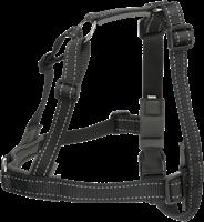 TRIXIE Trainingsgeschirr Lead'n'Walk Soft schwarz - L/XL: 65-105 cm / 25 mm (13057)