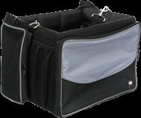 TRIXIE Front-Box für Fahrräder schwarz/grau
