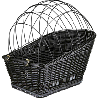 TRIXIE Fahrradkorb m. Gitter f. Gepäckträger schwarz