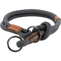 TRIXIE BE NORDIC Zug-Stopp-Halsband dunkelgrau/braun - M: 45 cm / ø 8 mm (17271)