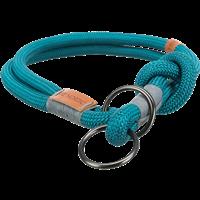 TRIXIE BE NORDIC Zug-Stopp-Halsband petrol/hellgrau - M: 45 cm / ø 8 mm (17272)