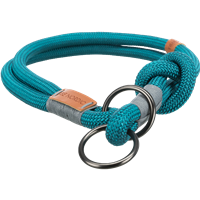 TRIXIE BE NORDIC Zug-Stopp-Halsband petrol/hellgrau - L: 50 cm / ø 13 mm (17282)
