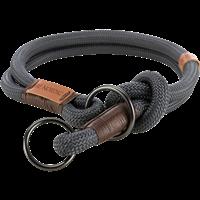 TRIXIE BE NORDIC Zug-Stopp-Halsband dunkelgrau/braun - L/XL: 55 cm / ø 13 mm (17291)