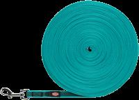 TRIXIE Schleppleine gummiert ozean - S/M: 15 m / 15 mm (19782)