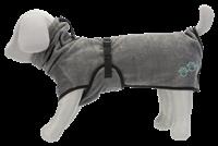 TRIXIE Bademantel für Hunde - Frottee - grau - L: 60 cm (23574)