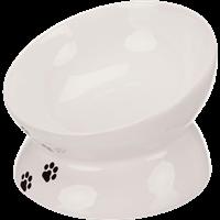 TRIXIE Napf, erhöht, Keramik - 0,15 l/ø 13 cm, weiß (24798)
