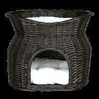 TRIXIE Korbhöhle mit Liegedach Weide schwarz