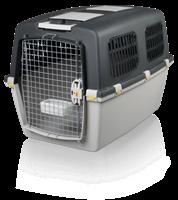 TRIXIE Transportbox Gulliver 6 - M–L: 64×64×92cm - hellgrau/dunkelgrau (39873)