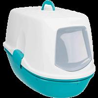 TRIXIE Katzentoilette Berto Top - mit Haube, Trennsystem, 39 × 42 × 59 cm, türkis/weiß (40163)