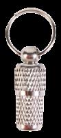 TRIXIE Adressanhänger aus Metall geriffelt chrom