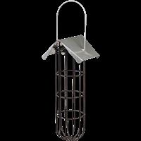 TRIXIE Meisenknödelhalter mit Dach - 4 Knödel, Metall, 11 × 25 × 10 cm, schwarz (55623)
