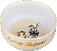 TRIXIE Honey & Hopper - Keramiknapf - 250ml - ø 11 cm - zufällige Farbwahl zufällig (60808)