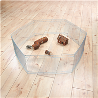 TRIXIE Indoor-Freilaufgehege für Kleintiere - verzinkt - 6 Elemente à 48 × 25 cm (6249)