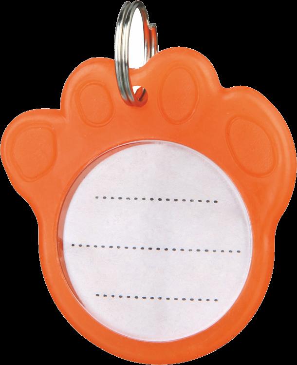 TRIXIE Anhänger für Hunde - phosphoreszierend - ø 3,5 cm - orange (2277)