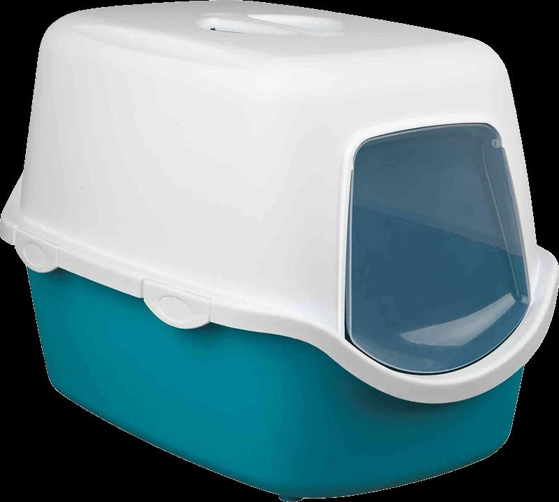 TRIXIE Katzentoilette Vico - mit Haube - 40 × 40 × 56 cm, türkis/weiß (40275)