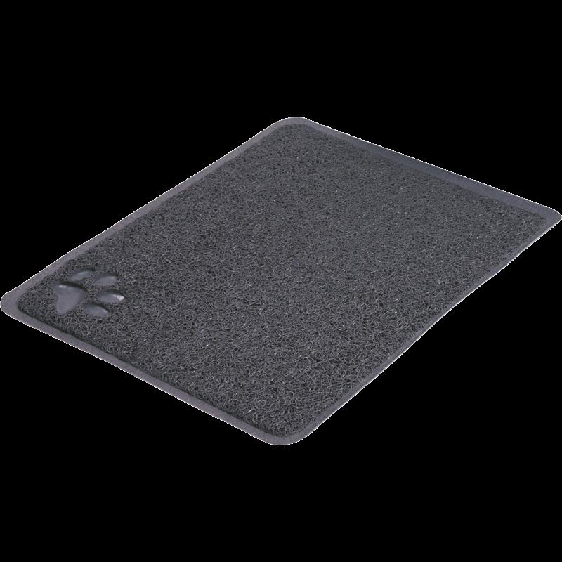TRIXIE Vorleger für Katzentoiletten aus PVC - anthrazit - 37 x 45 cm (40381)