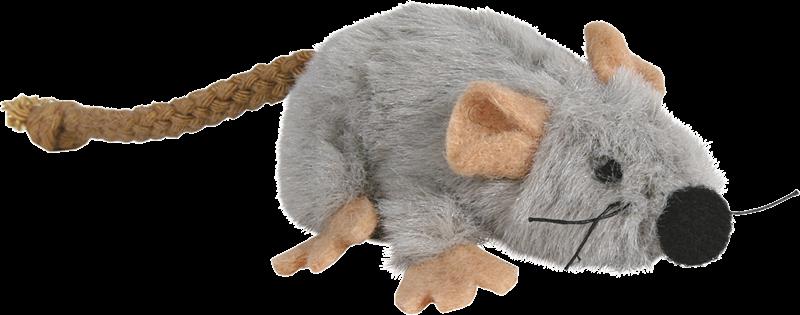 TRIXIE Spielmaus aus Plüsch mit Katzenminze - 7 cm (45735)