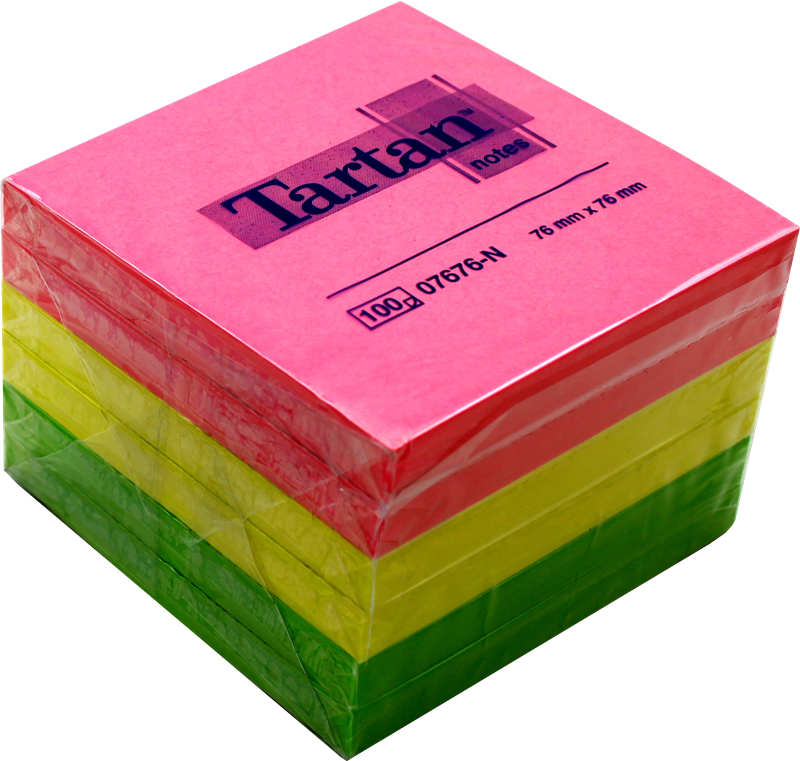 Haftnotizen 76x76mm Tartan 07676-N