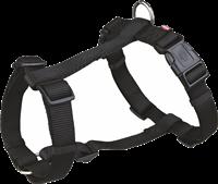 Trixie Premium - H-Geschirr - schwarz - XS/S, 30-40 cm / 10 mm (20321)