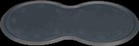 Trixie Napfunterlage Naturgummi - dunkelgrau - 45 cm x 25 cm (24561)