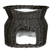 Trixie Korbhöhle mit Liegedach - Weide - 54 × 43 × 37 cm - schwarz (2872)