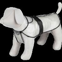 Trixie Regenmantel Tarbes - transparent mit schwarzen Paspeln